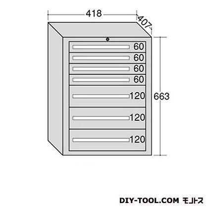 大阪製罐 ミゼットキャビネット Lグレー 幅×奥行×高さ:418×407×663mm M10-2G
