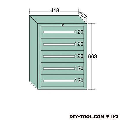 大阪製罐 ミゼットキャビネット Lグレー 幅×奥行×高さ:418×407×663mm M10-5G