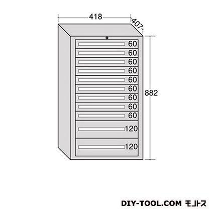 大阪製罐 ミゼットキャビネット Lグレー 幅×奥行×高さ:418×407×882mm M12-4G