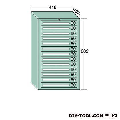 大阪製罐 ミゼットキャビネット Lグレー 幅×奥行×高さ:418×407×882mm M12-6G
