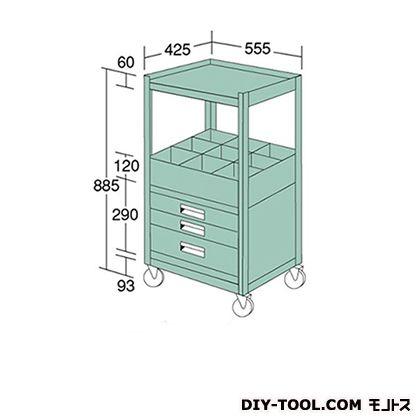 大阪製罐 ラックワゴン 幅×奥行×高さ:555×425×885mm WR37