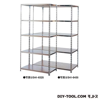 大阪製罐 軽量棚/SUS 幅×奥行×高さ:1203×303×1800mm S41-6416