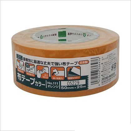 オカモト 布テープ オレンジ 50mm×25M (#111) 30個