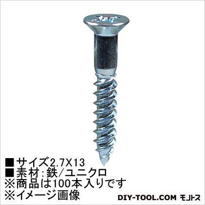 大里 ユニクロ 木ネジ 国内正規総代理店アイテム 皿頭 HP-751 本 2.7×13 100 日本最大級の品揃え
