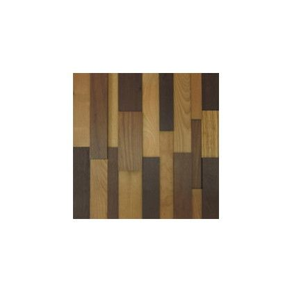 ワンウィル WOOD BRICK WALL PANEL【LIGHT】 金具あり(縦) 444mm×444mm×22mm
