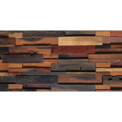 ワンウィル WOOD BRICK WALL PANEL【VINTAGE】 金具あり(横) 444mm×894mm×22mm