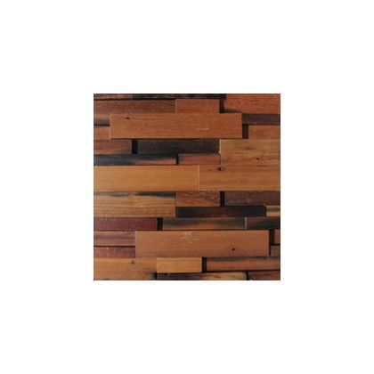 ワンウィル WOOD BRICK WALL PANEL【VINTAGE】 金具あり(横) 444mm×444mm×22mm