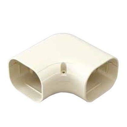 (スカイダクト) オーケー器材 ホワイト (K-TDK10AW10) TDシリーズ 配管化粧ダクト (平面エルボ) 10個入