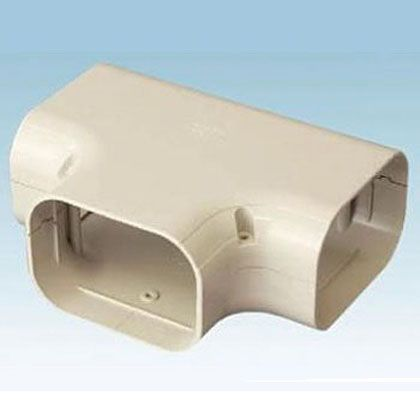 オーケー器材 配管化粧ダクト(スカイダクト)TDシリーズ(チーズ 異径アダプタ付) ブラウン (K-TDT8AT10) 10個入