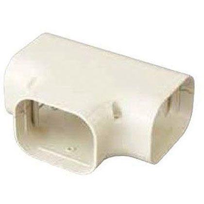 オーケー器材 配管化粧ダクト(スカイダクト)TLシリーズ(チーズ 異径アダプタ付) グレー (K-TLT9AH10) 10個入