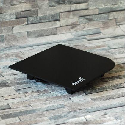 店舗 フェザンツール 格安 価格でご提供いたします 在庫限り特価 壁紙の施工道具minamoto源パテベラ収納機能付パテ盛板 295mm×295mm ブラック KTN0012