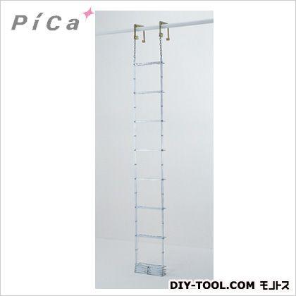 避難用鋼製折りたたみはしごES7.1m ES-72 1点 ピカ