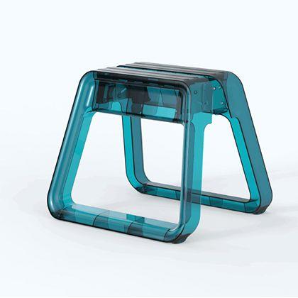 异食癖颜色大便宝石步蓝色塑料 (宝石路) 异食癖一步踏脚凳