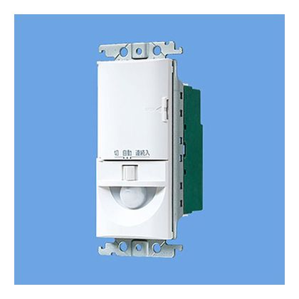 パナソニック トイレ壁取付熱線センサ付自動スイッチ(換気扇連動用) ホワイト WTK1614W