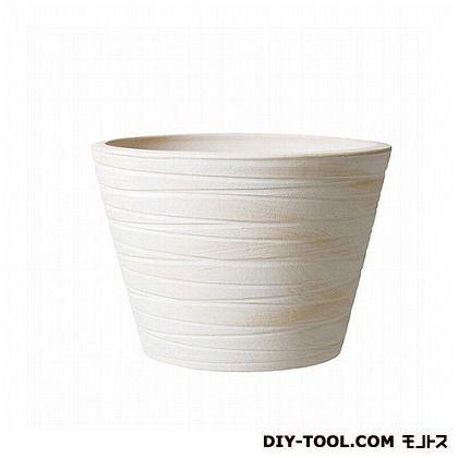 プラスガーデン 植木鉢 シェーブミドル390 (75-04 ホワイト)