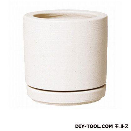 プラスガーデン 植木鉢コラムミドル300皿付 (415-01 ホワイト)