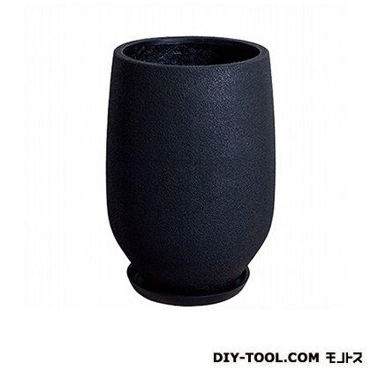 プラスガーデン 植木鉢 イオロング 受皿付 M (H344-12 ブラック)