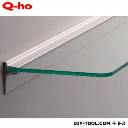 Q-ho レールシェルフ強化ガラス 棚板平面部寸法120×600mm T1522