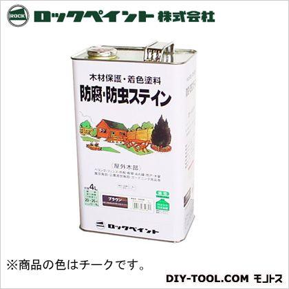 ロックペイント ナフタデコール 防腐・防虫ステイン チーク 4L H85-0003