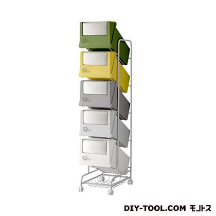 H&H 分別ごみ箱5分別ごみ箱ステンレスフラップコンテナスタイル3CS3-100SMX4 ミックス(グリーン・イエロ・グレー) 226907