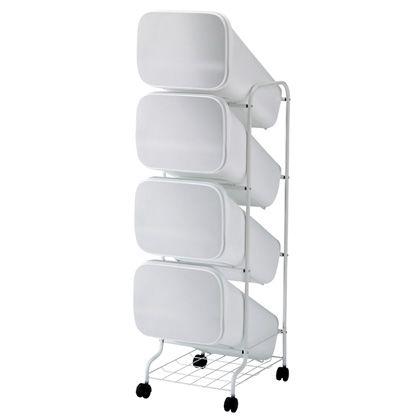 H&H スムース分別ごみ箱4段ダストボックスBBH011 メタル 80L 252818