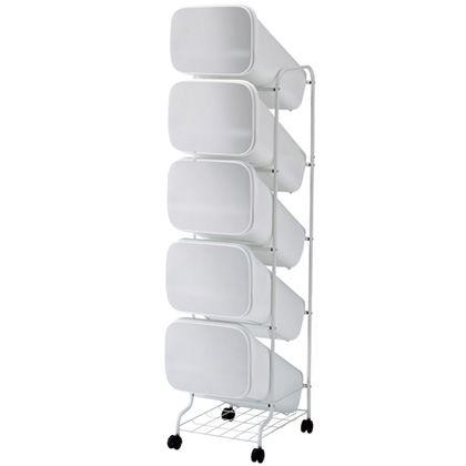 H&H スムース分別ごみ箱5段ダストボックスGBBH013 メタル 100L 252820