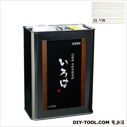 アールジェイ いろはカラー 浸透性木材保護塗料 白 3.5L YW-03