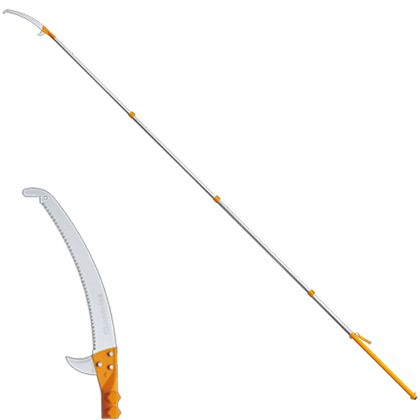 シルキー ハヤテ4段セット(2.4~6.1M)(鋸・のこぎり)高枝鋸 420mm 372-42