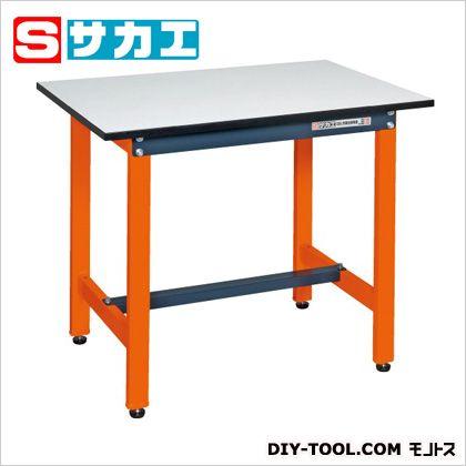 サカエ 軽量作業台 カラー:オレンジ、天板カラー:ホワイト (SEL0960PDOR) 作業台 ステンレス作業台 作業 万能作業台
