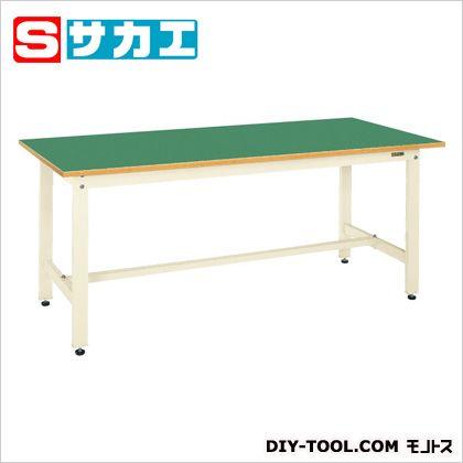 サカエ 軽量作業台SKKタイプ カラー:アイボリー、天板カラー:グリーン SKK69FNI
