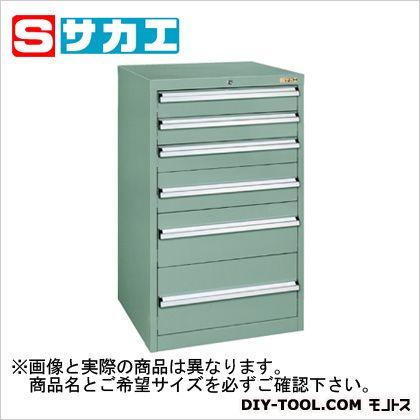 サカエ 重量キャビネットSKVタイプ(W600mm) グリーングレー SKV61062ANG
