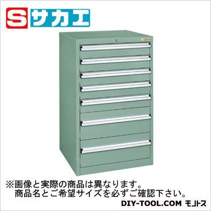 サカエ 重量キャビネットSKVタイプ(W600mm) グリーングレー SKV61071ANG