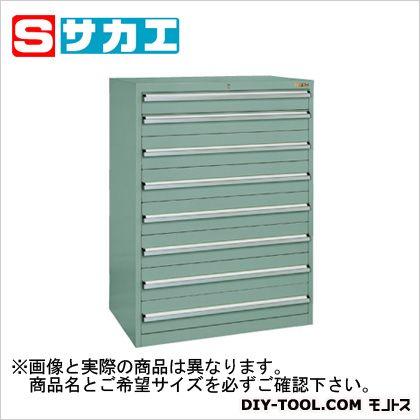 サカエSKVキャビネットタテ仕切グリーングレー(SKV81283ANG)sakae工具箱・ツールボックス大型据え置き・車載用