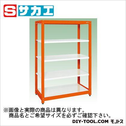 サカエ サカエ スチールラック(ツートン) ホワイト SLN9055WOR・オレンジ SLN9055WOR, GOLDSPACE:2ec753cd --- officewill.xsrv.jp
