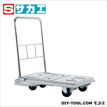 サカエ スタッキングハンドカー(折りたたみハンドルタイプ・ブレーキ付) グレー SPD720S