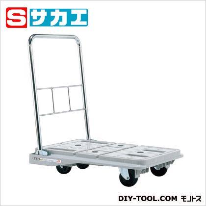サカエ スタッキングハンドカー(折りたたみハンドルタイプ・ブレーキ付) グレー SPD720SC