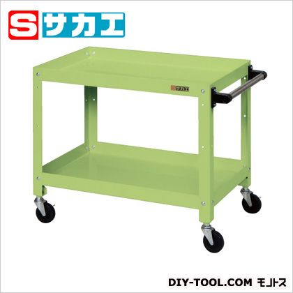 サカエ スペシャルワゴン グリーン (SPJ02T) 作業台 ステンレス作業台 作業 万能作業台