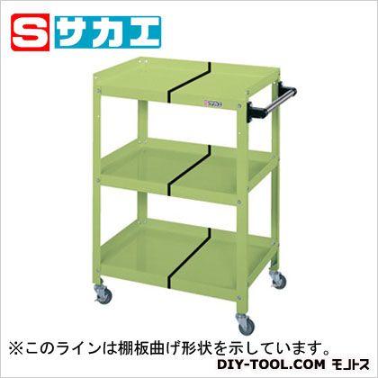 サカエ スペシャルワゴン(棚板前面開放型) グリーン SPY03CT