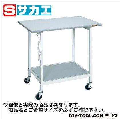 サカエ 実験テーブルSRタイプ(ゴムキャスター付) グレー SR094