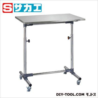 サカエ 軽量セルワーク作業台(シングル脚) ステンレス W750×D500×H700~1000mm CL7550SUM