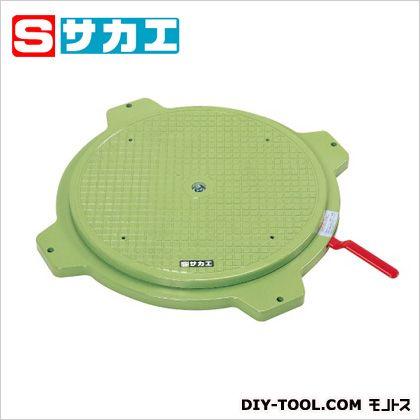 サカエ クルクル回転盤(樹脂製・ハンドストッパー付) グリーン PS36