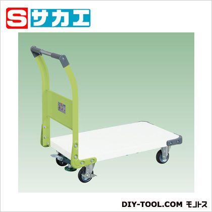 サカエ 特製四輪車(ツートン) ホワイト・グリーン TAN22FWG