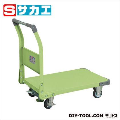 サカエ 特製四輪車(固定ハンドルタイプ・フロアストッパー付) TAN33F