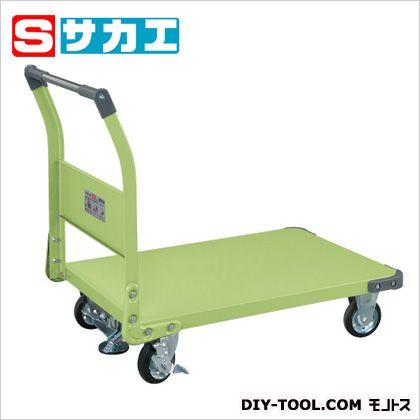 サカエ 特製四輪車(固定ハンドルタイプ・フロアストッパー付) TAN55F