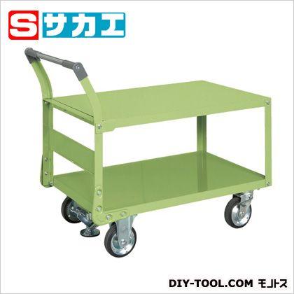 サカエ 特製四輪車(二段タイプ・フロアストッパー付) TAW55F