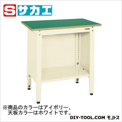 サカエ 一人用作業台(高さ調整タイプ) カラー:アイボリー、天板カラー:ホワイト TCP096IV
