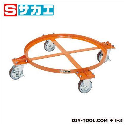 サカエ 円形ドラム台車(オープンタイプ) オレンジ DR1S