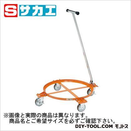 サカエ 円形ドラム台車 オレンジ DR1TM