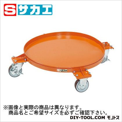 サカエ 円形ドラム台車 オレンジ DR4M