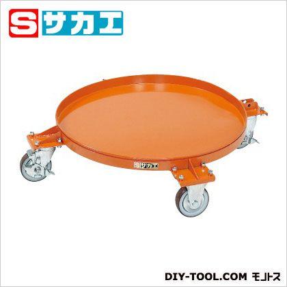 サカエ 円形ドラム台車(受皿付タイプ) オレンジ DR4S